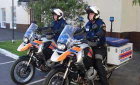 В Москве действует мотоциклетное подразделение МЧС