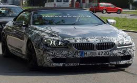 BMW поймали за тестированием BMW M6 Cabriolet
