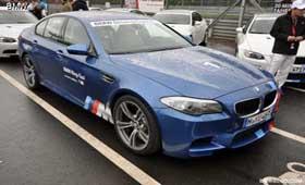 BMW M5 Nurburgring taxi прокатит с ветерком