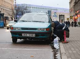 В Москве много машин с иностранными номерами