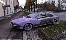 Маляры из Новгорода покрасили BMW