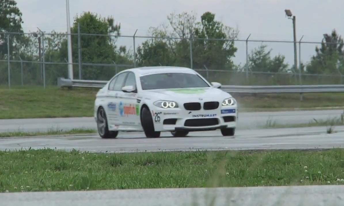 На новом BMW M5 был установлен рекорд по дрифту